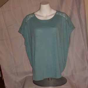 Green laced sleeved shirt